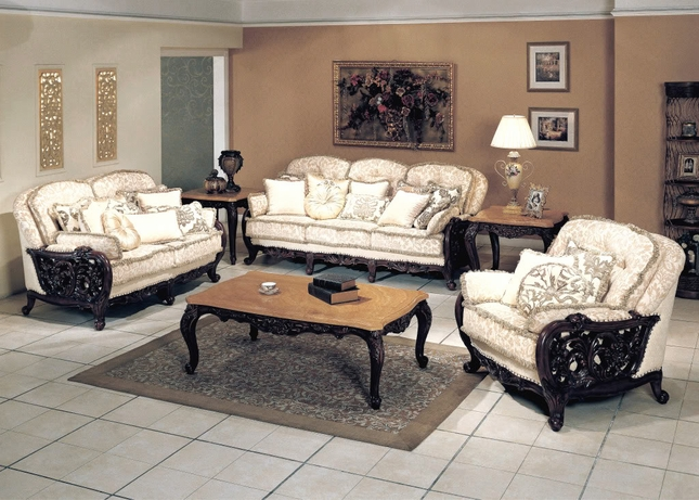 Traditional Luxury Formal Living Room Furniture Set - formal living room chairs
