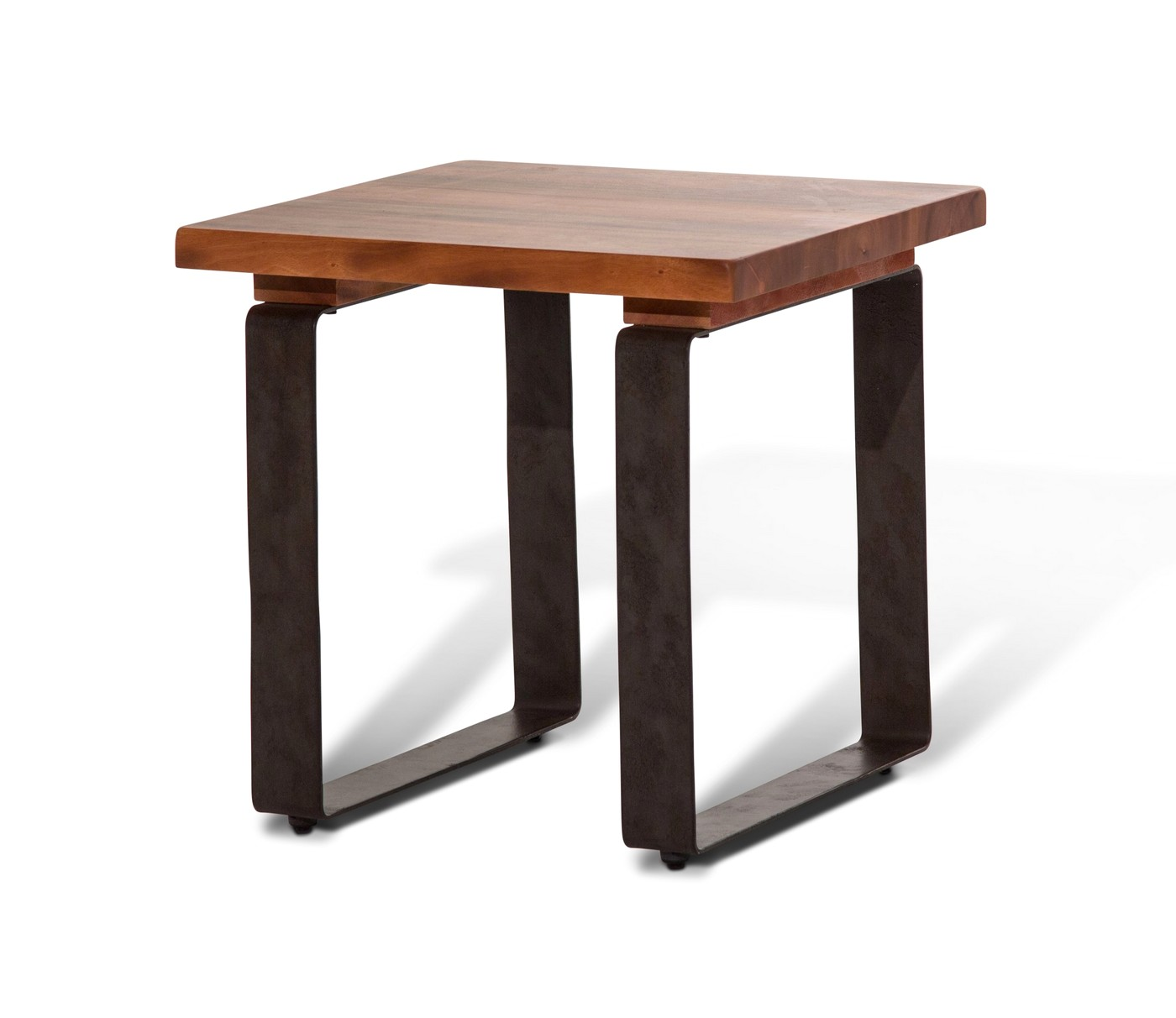 End Tables With Metal Legs Telluride Rustic Country Style Mahogany End Table With