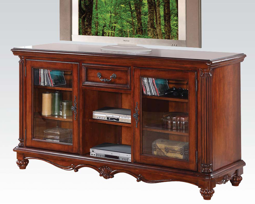 Acme furniture tv stand in traditional style ac91495