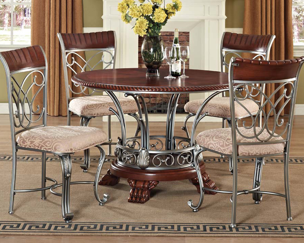 Standard Kitchen Table Top Height Dining Set Omari By Acme Furniture Ac70100set