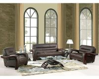 EuroDesign Brown Contemporary Leather Living Room Set GF992BN