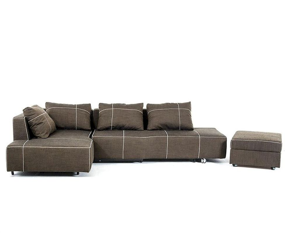 Fabric Sectional Sofas With Chaise Fabric Sectional Sofa W/ Chaise In Contemporary Style 44l6035