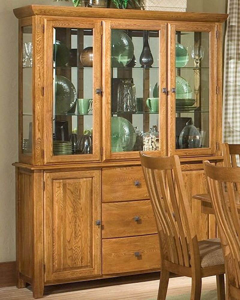 Intercon Solid Oak Buffet Hutch Highland Park Inhp6034 6048