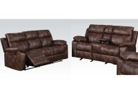 Light Brown Sofa Set w/ Motion Dyson by Acme Furniture