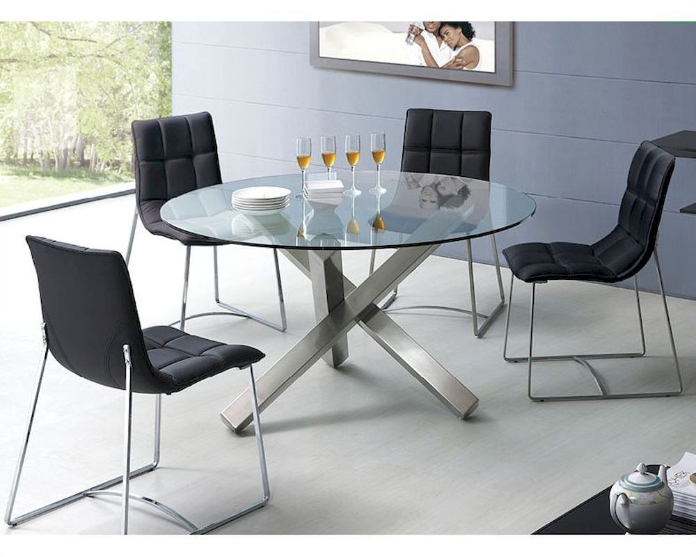 Modern Dining Set Modern Dining Set Round Glass Top Table European Design 33d231