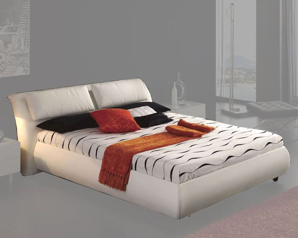 Modern Platform Storage Bed Monica In White Made In Spain