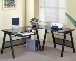 Small Of Desk With Keyboard Tray