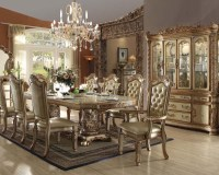 Traditional Dining Set Vendome Gold by Acme Furniture ...