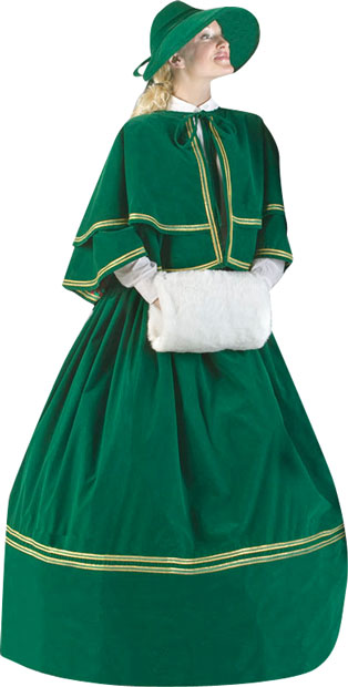 Unique Clothing Plus Size Plus Size Charles Dickens Christmas Carol Dress | Dickens