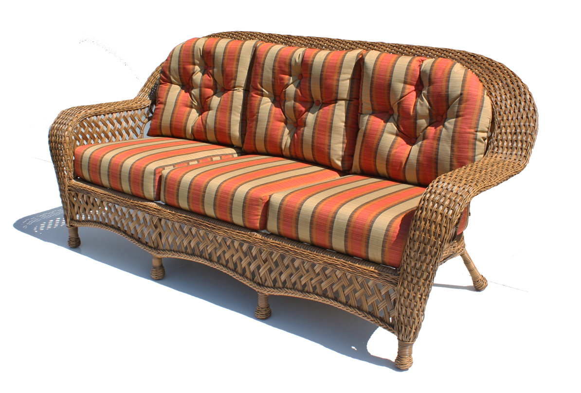Rattan Ecksofa Outdoor Wicker Sofa - Montauk Shown In Natural