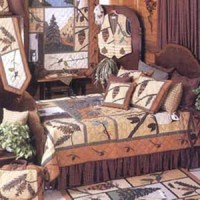 Pine Cone Quilt Set - Rustic Bedding - Lodge Craft