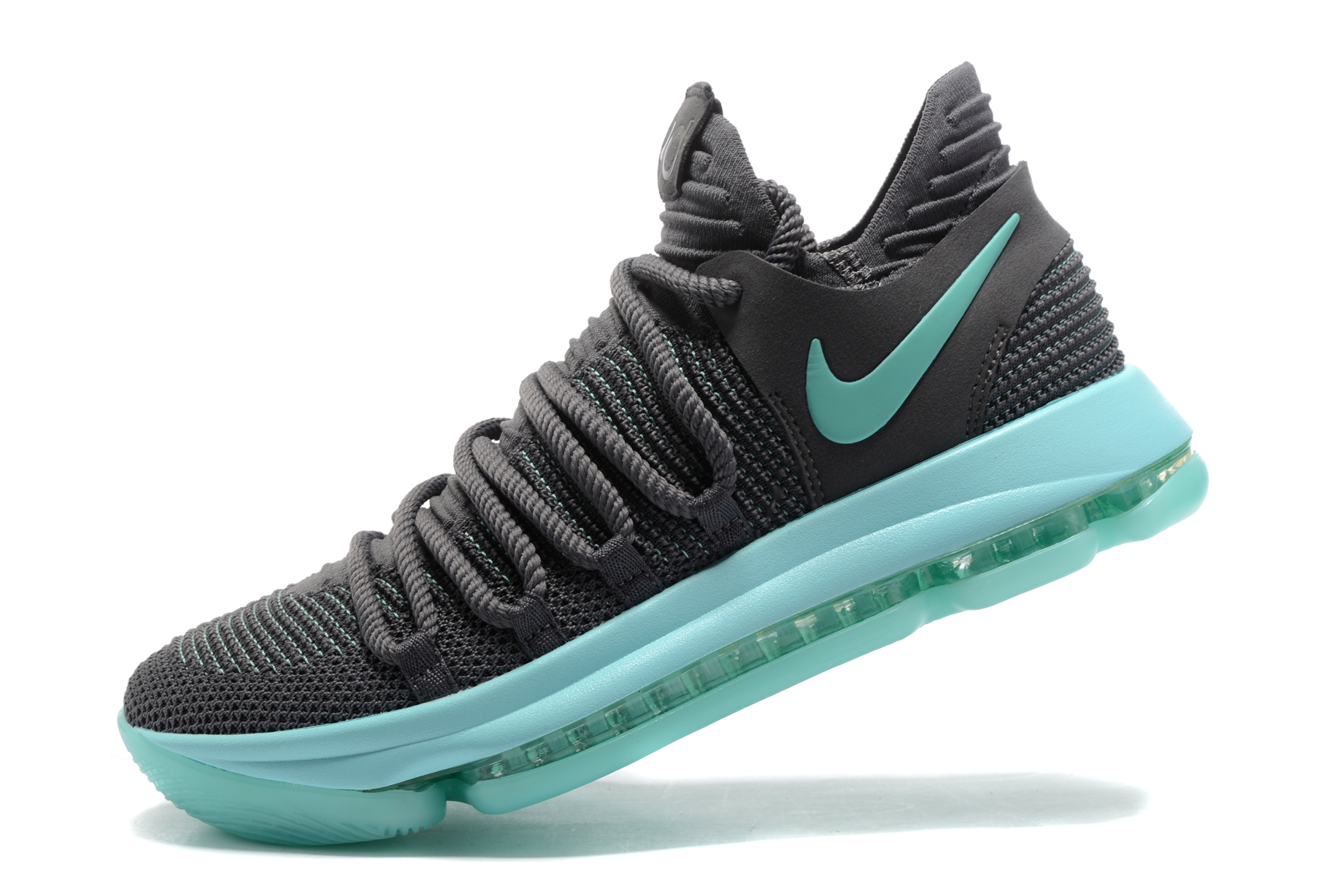 Nike Zoom Grey And Green Nike Zoom Kd X 10 Men Basketball Shoes Wolf Grey Green