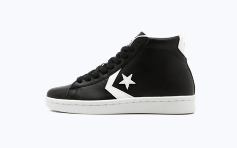 Converse Pro Leather 76 Mid Black White Shoes Sepshoe