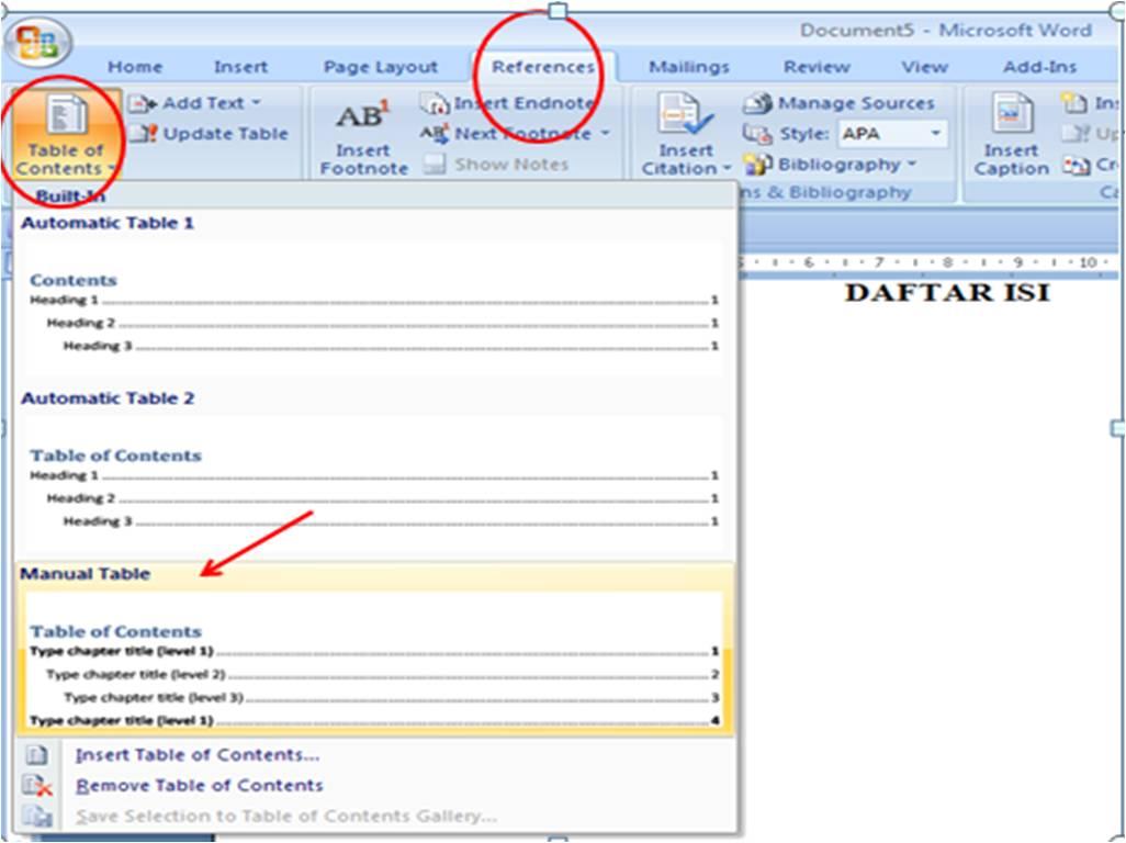 Cara Membuat Laporan Prakerin Multimedia Hasil Laporan Prakerin Smk Negeri 1 Rangkasbitung Membuat Daftar Isi Table Of Contents Di Word 2007 2010