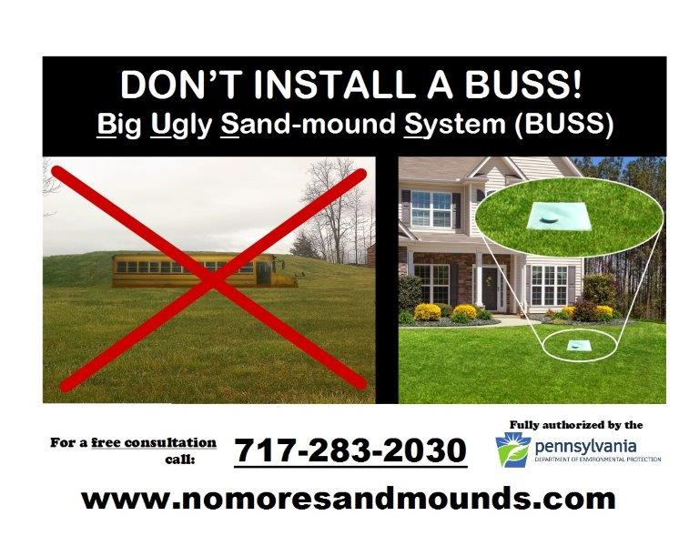 No More Sand Mounds Septic Systems, LLC