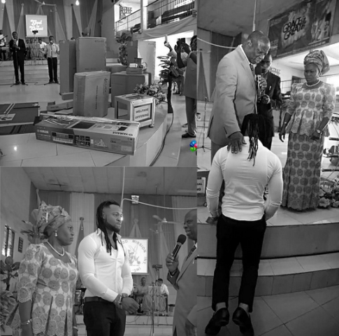 Flavour Gifts Musical Instruments To The Church He Started
