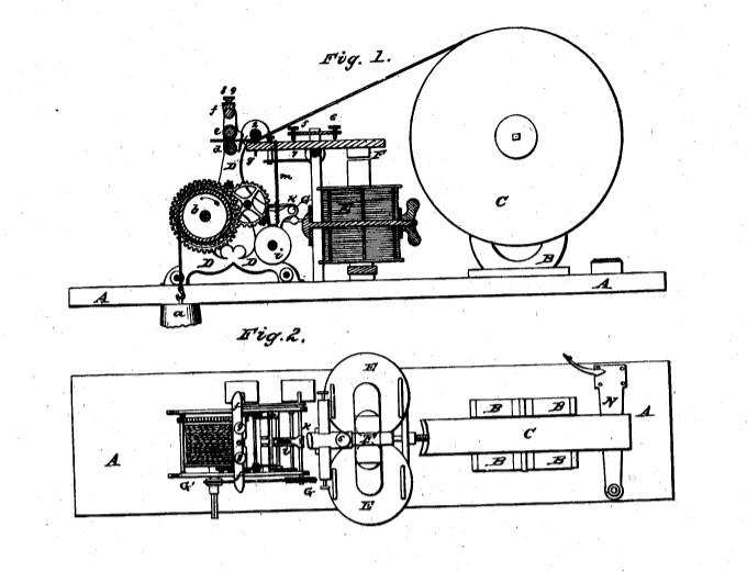 diagram of electric telegraph