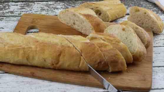 Cantaloupe Prosciutto Bruschetta Process 1