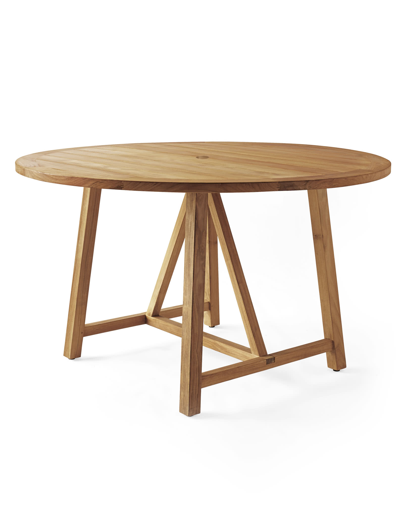 Crosby Teak Round Dining Table Natural Serena Lily