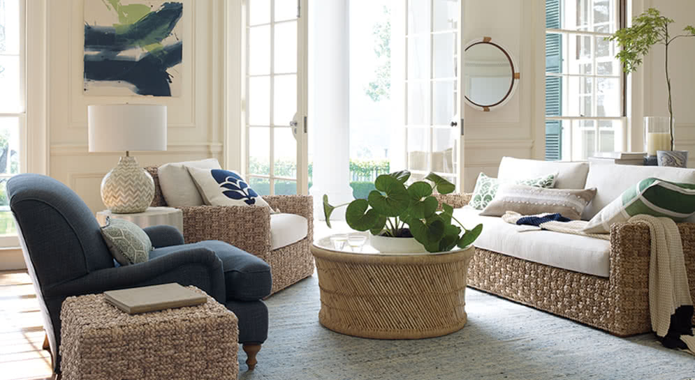 Living Room Decor Pillows Shop The Look: Living Room - Designer Rooms | Serena & Lily
