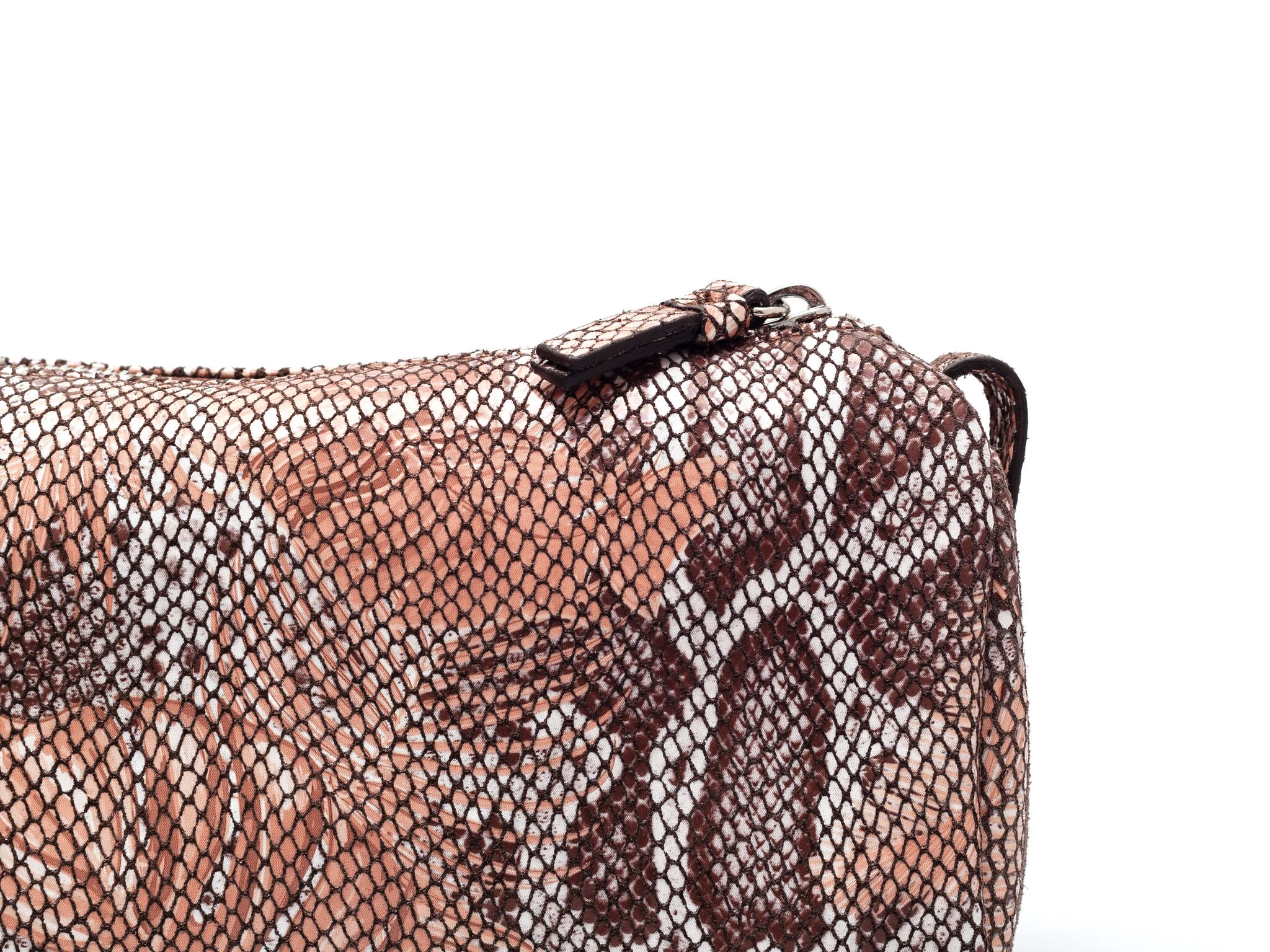 Jade Farbe Luxury Leather Travel Bag Jade Farbe Jungle Rosé