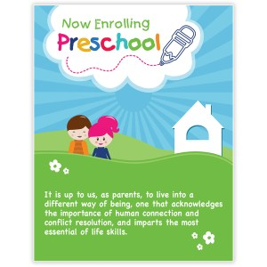 Preschool Kids Poster Template