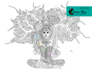Lady Shaman Tree Coloring Page