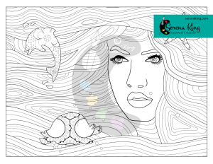 Water Element Coloring Page