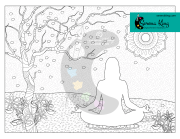 Meditation In Nature Coloring Page