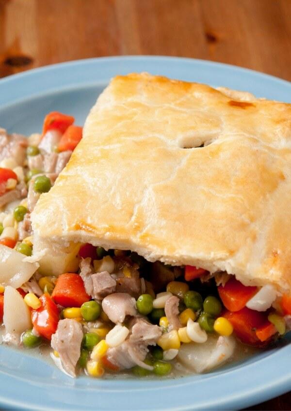 SLOW COOKER Turkey Pot Pie Recipe