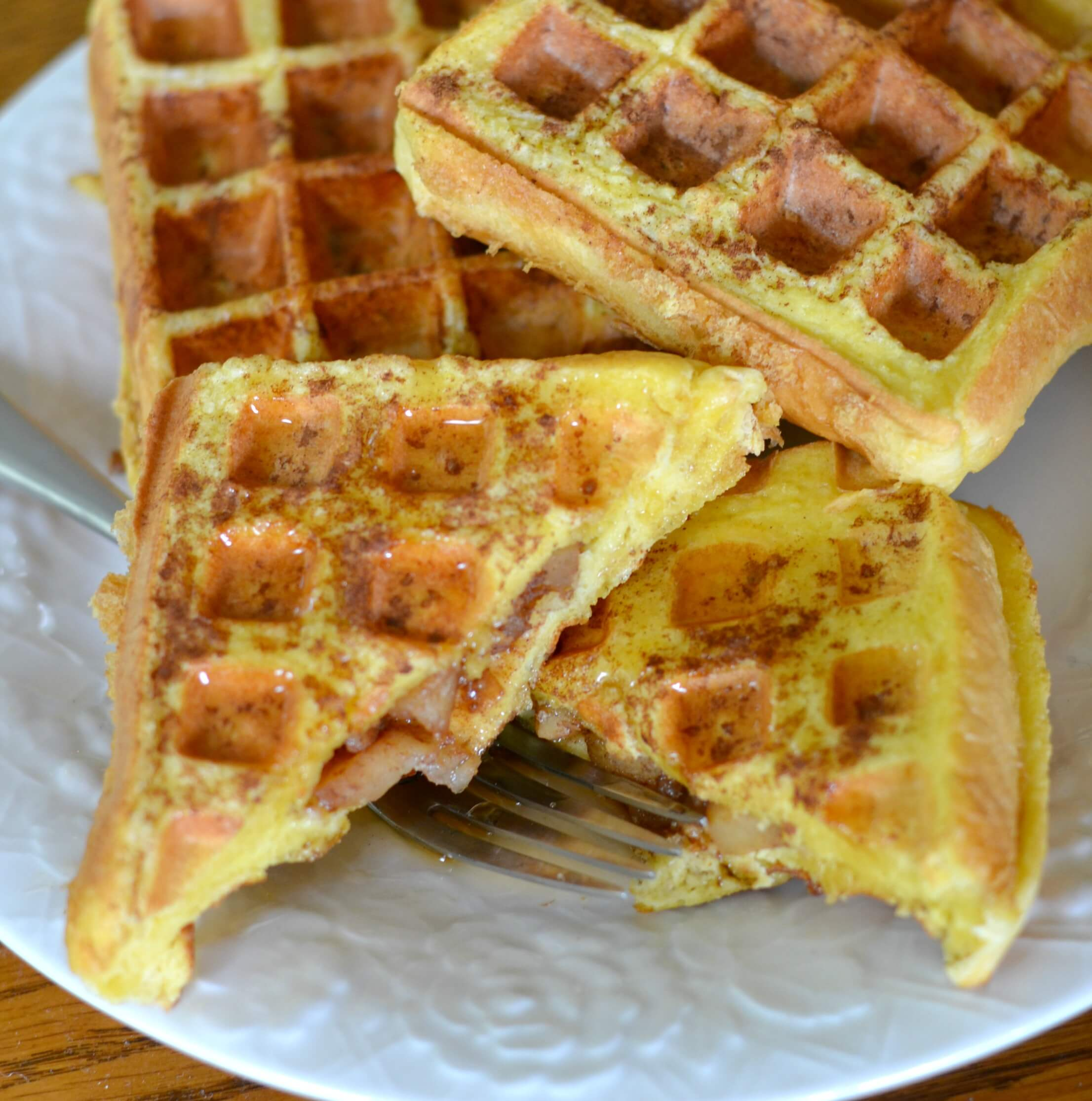 Apple Stuffed French Toast Waffles - Serendipity and Spice
