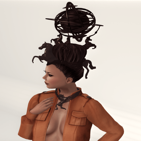 Bizarre Hair Hair Fair- Horse Power close up