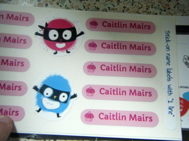 Children's Name Stickers for School