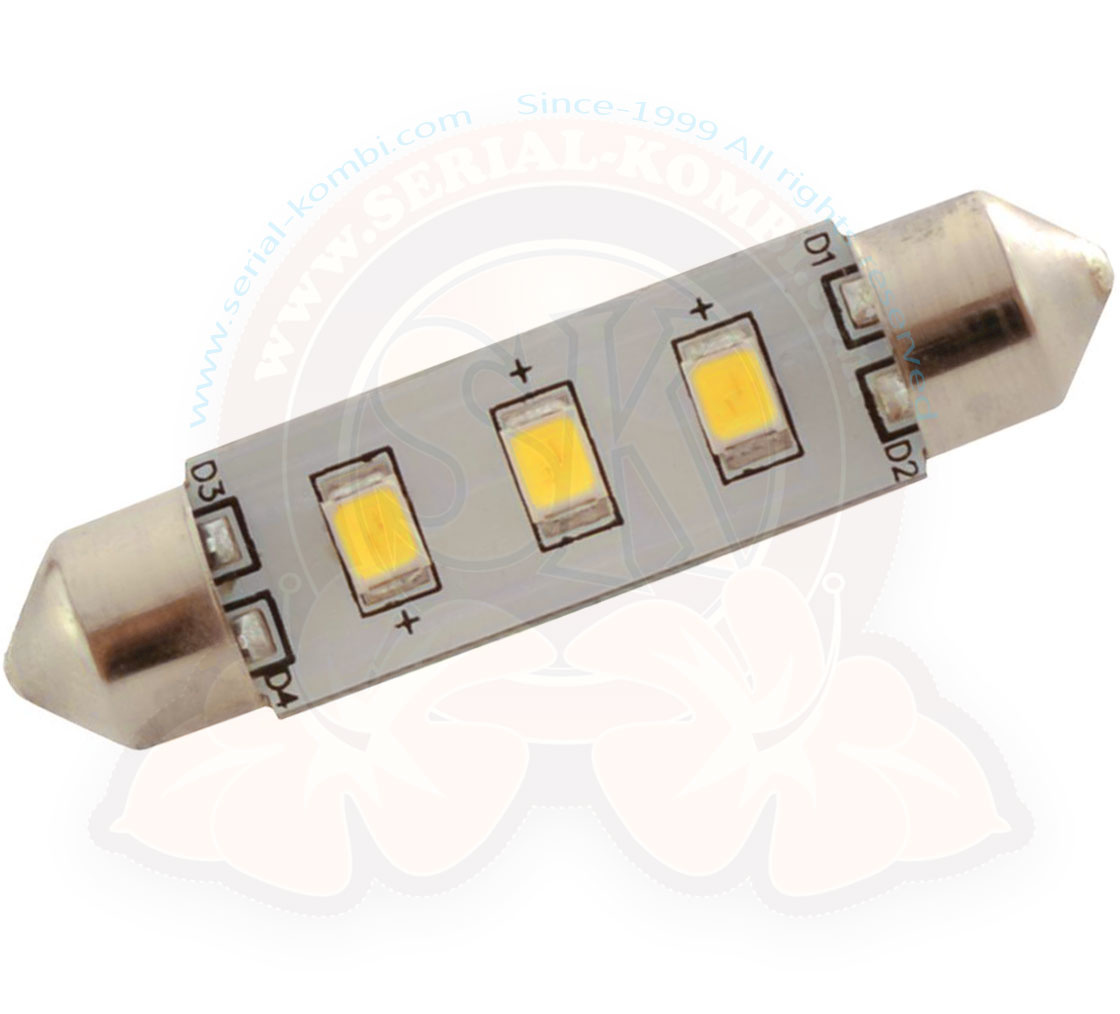 Eclairage Exterieur Led 12 Volts Ampoule De Plafonnier à Led 12 Volts 6 Watts Navette 42mm