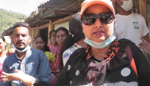 Deepa Shree Niraula, Kedhar Ghimire and Tika Bhandari help earthquake victims