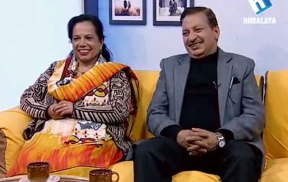 Rajaram Poudel and his wife in Jeevan Saathi