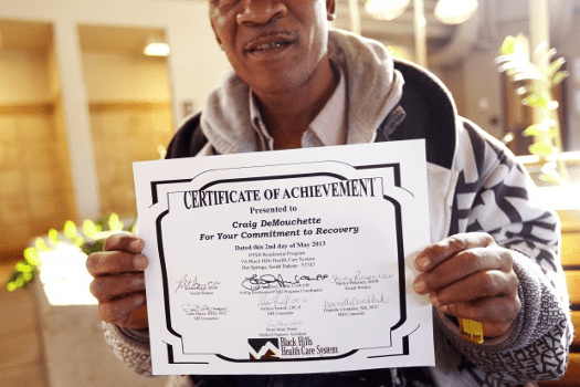 "The VA printed a certificate for DeMouchette, claiming he overcame his PTSD in record time because they can't legally give awards for ""instilling white guilt, however temporary."""