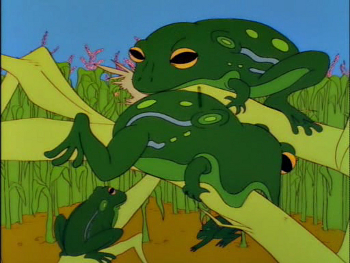 Australian crops have still not recovered from the great frog invasion of 1995.