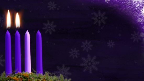 Blue Wallpaper Hd Advent Candle Still Image Week 2 Hd And Sd Vertical