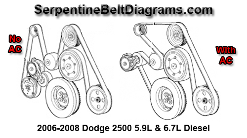 2006 dodge belt diagram