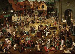 A Luta entre o Carnaval e a Quaresma (1559), de Pieter Bruegel (1564-1638)