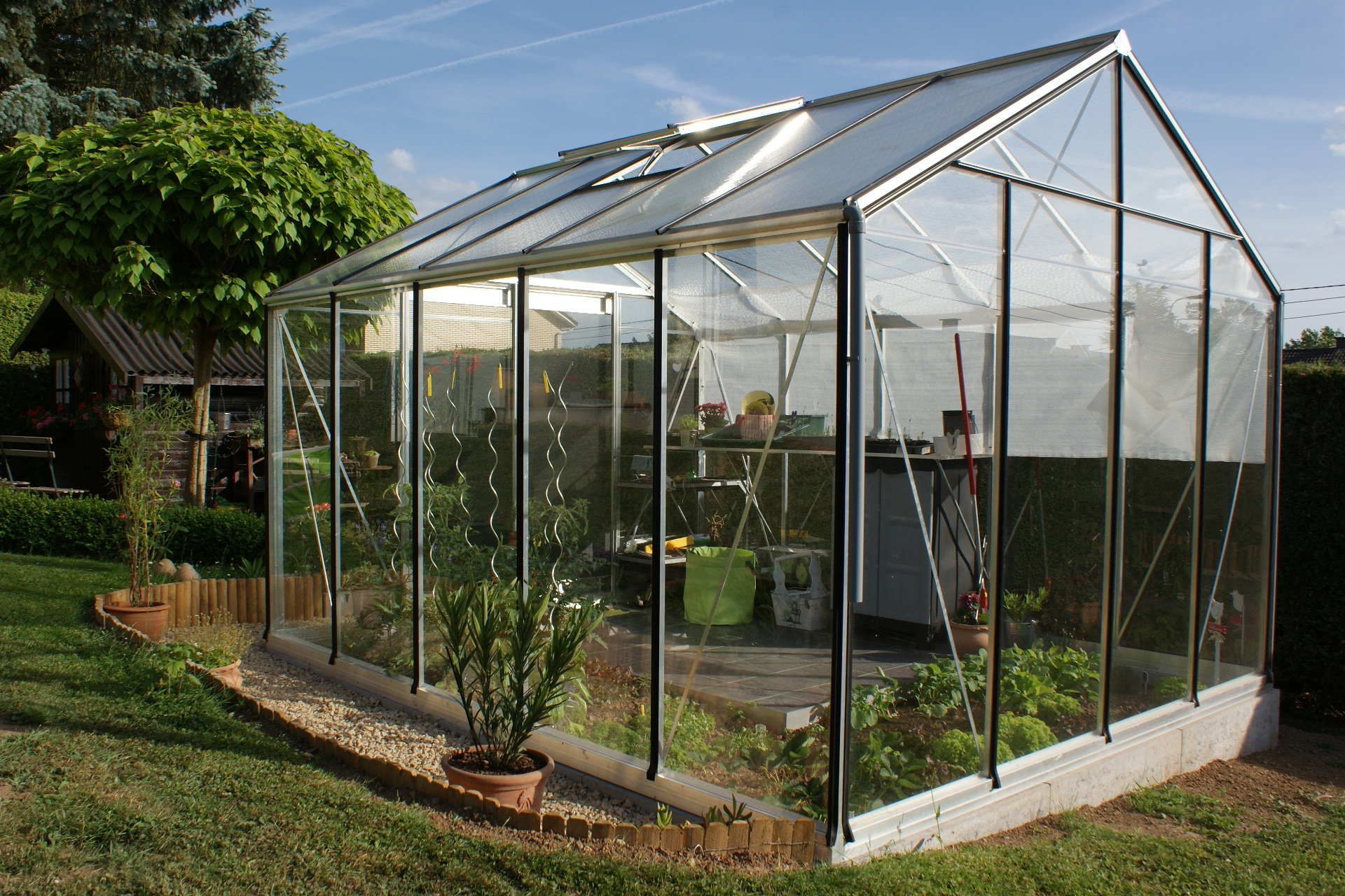 Comment Installer Une Serre Tunnel Best Installer Une Serre De Jardin Contemporary Awesome