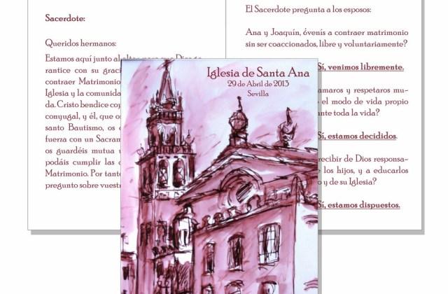 Misal acuarela Iglesia de Santa Ana (Sevilla)