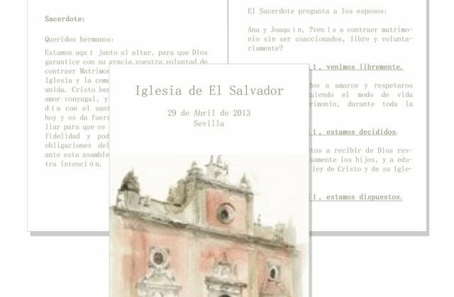 Misal acuarela Iglesia El Salvador (Sevilla)