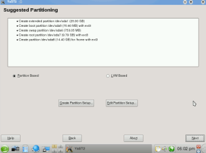 openSuse 11.1 - Installation partitioning