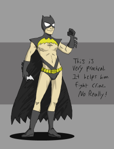 Batman dressed as a girl