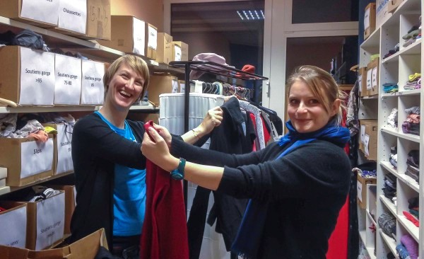 Help Sort Clothes for Red Cross DropIn Centre!