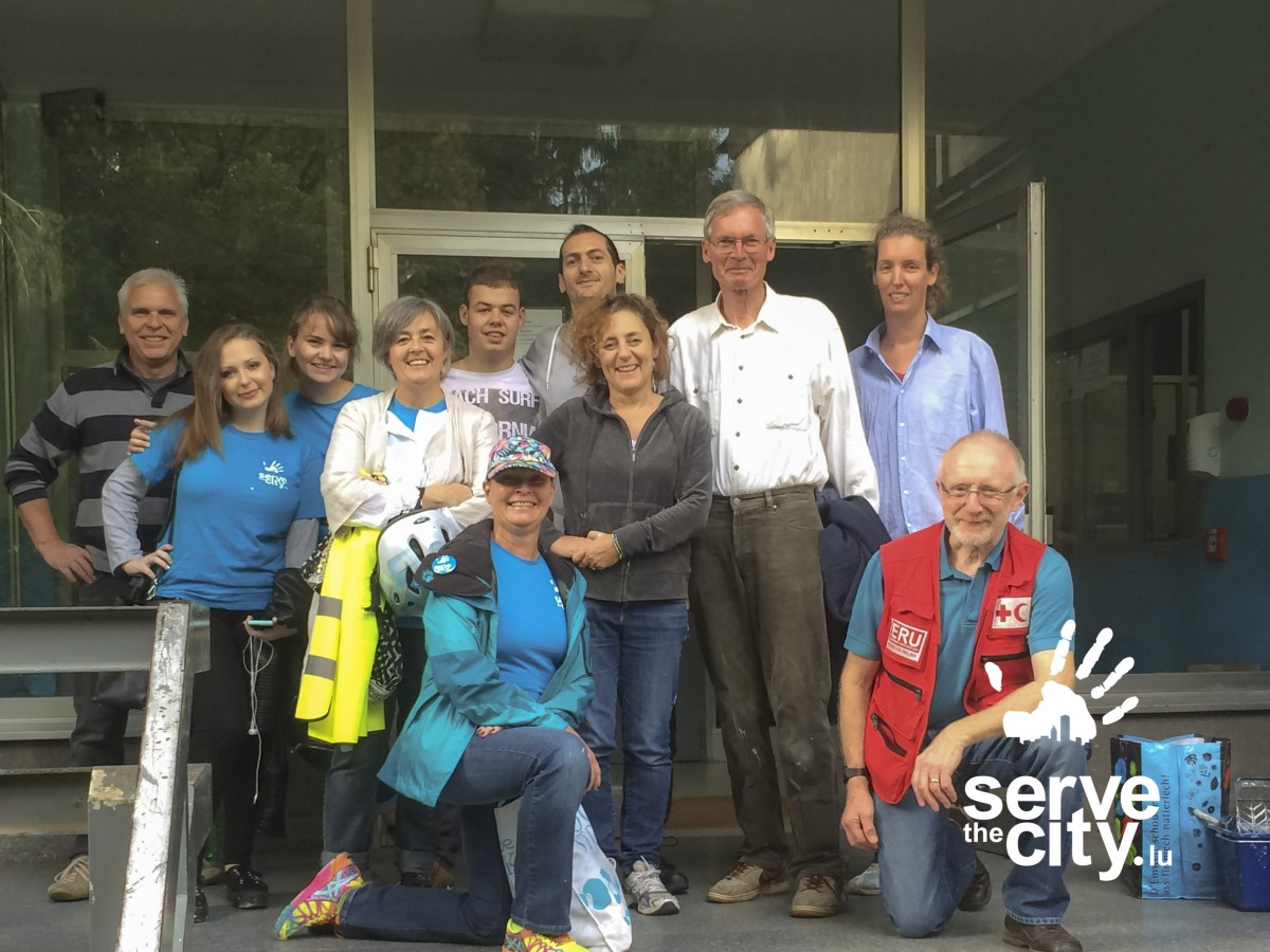 Serve the City – Painting the way for asylum seekers in Luxembourg!