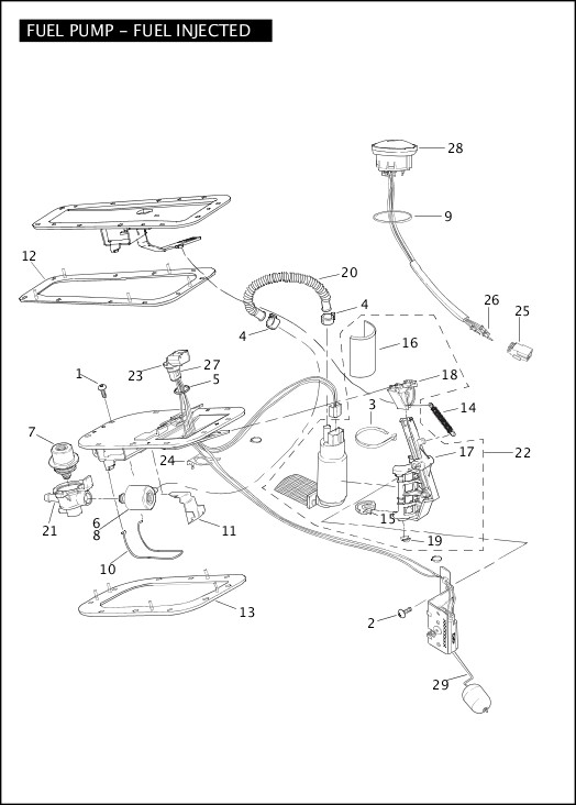 davidson fuel injection further harley davidson fuel pump diagram