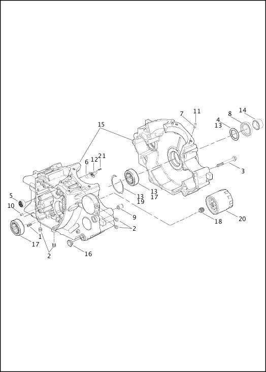 basic harley davidson twin cam engine diagram